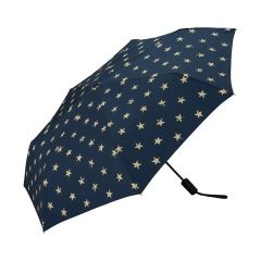 W.P.C. 日本防UV/防紫外線摺疊式自動開關摺雨傘 (Vintage Star Mini) MSJ-065