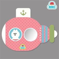 Nino Mirror Board - Pink Submarine nin_mr_00013