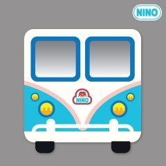 Nino Mirror Board - MiniBus Blue-Front nin_mr_00019