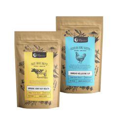 Nutra Organics Beef Bone And Chicken Bone Broth Powder Value Set NOG02_NOG03