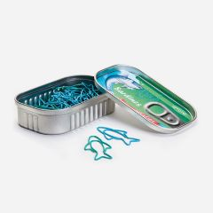 OTOTO - SARDINE PAPER CLIPS Paperclips & Dispenser (A Tin & 30 Clips Included) hbf_OT348