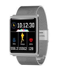 日本TSK - N9大屏防水運動心率監測智能手錶金屬帶 P2689 P2689