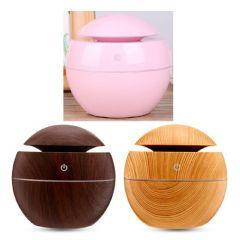 日本TSK - 迷你超聲波USB木紋空氣加濕香薰機 (啡色 / 黑色 / 粉紅色)