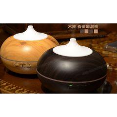 日本TSK - 木紋超聲波空氣凈化加濕香薰機 (啡色 / 黑色)