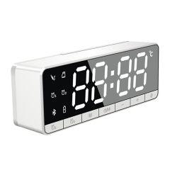 日本TSK - 迷你便攜鏡面鬧鐘FM收音無線藍牙插卡喇叭 (2 款顏色)