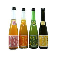 Hagi no Tsuyu - Fruit Liquor Set (Lemon/Mikan Orange/Yuzu/Plum)(1 Set