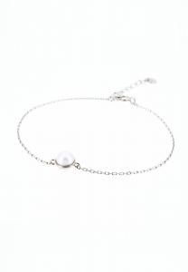 Sdori 半圓托正圓珍珠純銀手鍊 - 純銀