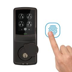 Lockly® Secure Plus Deadbolt Lock PIN Genie™ 智能門鎖 - 3色, 不包安裝 PGD728F