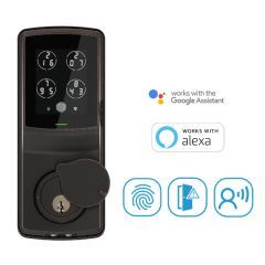 Lockly® Secure Plus Deadbolt Lock PIN Genie™ 智能門鎖 - 3色, 不包安裝PGD728W