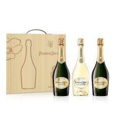 Perrier Jouet - 巴黎之花 限量木盒裝 (特級香檳 x2 + 白中白香檳 x1)