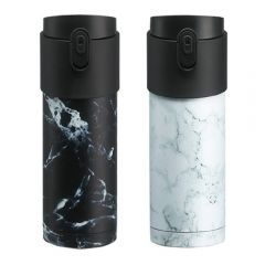 PO: - Pao Thermo Mug (White Marble/Marble with Black Lid) PO-2723-24