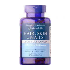 Puritan's Pride 頭髮,皮膚和指甲配方((每日1粒) 60粒裝[有效日期 11/2020] Puritan55554