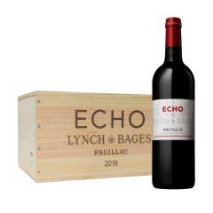 Echo de Lynch Bages - Pauillac 5eme Cru 2018 750ml x 6 支 (連木箱及醒酒器 1 個) PW_LBecho18set