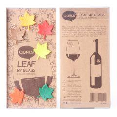 QUALY - Leaf My Glass -6 Glass Tags QL10104-MX