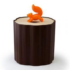 QUALY - Squirrel Tissue Log -Toilet Paper Holder QL10140-BN