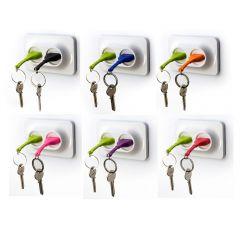 QUALY - Double Unplug -Key Ring + Key Holder (6 colors option) QL10149-MO