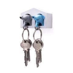QUALY - Duo Elephant Key Ring QL10188-WH-BU-GY
