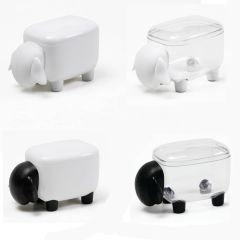 QUALY -  Sheepshape Container Jr. (Clear Black/Clear White/Black White/White) QL10259-MO