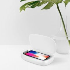 MOMAX QU1W Q.UV Box Wireless Charging + UV Sanitizing Box (White) QU1W_1