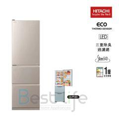 HITACHI - 3 door Refrigerator(Right/Left Hindge) (Champagne Silver)(315L)  R-S32KPH(CNX)  R-S32KPH