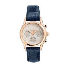 Trussardi T-Light Blue Leather Strap Men's Watch R2451127001 R2451127001