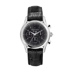 Trussardi T-Light Black Leather Strap Men's Watches R2451127007 R2451127007