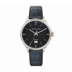 Trussardi T-Complicity Blue Leather Strap Men's Watches R2451130001 R2451130001