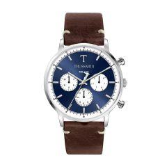 Trussardi T-Gentleman Brown Leather Strap Men's Watches R2451135004 R2451135004