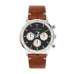 Trussardi T-Gentleman Light Brown Leather Strap Men's Watches R2451135005 R2451135005