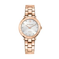Trussardi T-Vision Rose Gold Metal Band Strap Women's Watches R2453115509 R2453115509