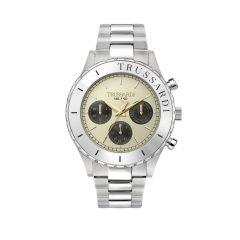 R2453143005 Trussardi T-Logo Silver Metal Band Men's Watches R2453143005