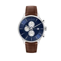 R2471630003 Trussardi T-Complicity Brown Leather Strap Chronograph Men's Watches R2471630003
