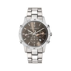 R2473617003 Trussardi T-Style Silver Metal Band Strap Chronograph Men's Watches R2473617003