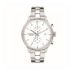 R2473630003 Trussardi T-Complicity Silver Steel Strap Chronograph Men's Watches R2473630003