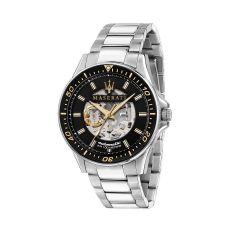 Maserati Sfida Silver Metal Band Strap Automatic Men's Watches R8823140002 R8823140002