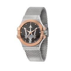Maserati Potenza Silver Metal Band Strap Men's Watches R8853108007 R8853108007