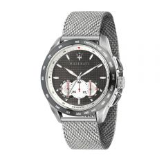 Maserati Traguardo Silver Steel Strap Chronograph Men's Watches R8873612008 R8873612008