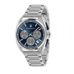 Maserati Trimarano Silver Metal Band Strap Chronograph Men's Watches R8873632004 R8873632004