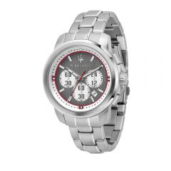 Maserati Royale Silver Steel Strap Chronograph Men's Watches R8873637003 R8873637003