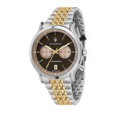 Maserati Legend Silver W/ Gold Steel Strap Chronograph Men's Watches R8873638003 R8873638003
