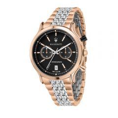 Maserati Epoca Silver W/ Rose Gold Steel Strap Chronograph Men's Watches R8873638005 R8873638005