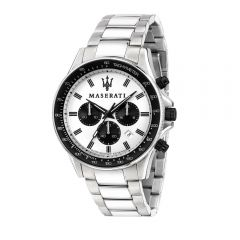 Maserati Sfida Silver Metal Band Strap Chronograph Men's Watches R8873640003 R8873640003