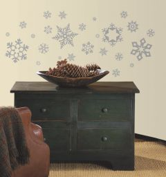 ROOMMATES - GLITTER SNOWFLAKES RMK1413SCS