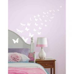 ROOMMATES - BUTTERFLY/DRAGONFLY GLOWING WALL DECOR RMK1706SCS