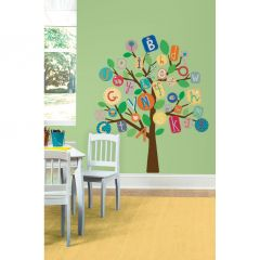 ROOMMATES - PRIMARY ABC TREE GIANT WALL DECALS RMK2057SLM