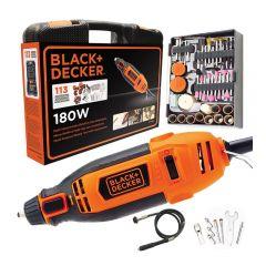 Black & Decker - Rotary Tools w/114 accs Kit Set RT18KA