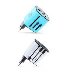 SmartGo - MIX 通用旅行插頭 (白色 / 藍色)