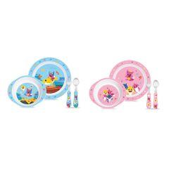 Pinkfong - 鯊魚家族兒童餐具套裝