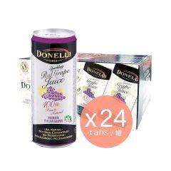 Donelli - 罐裝有汽葡萄汁 - 紅葡萄味 (24罐裝)