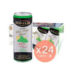 Donelli - 罐裝有汽葡萄汁 - 白葡萄味 (24罐裝)